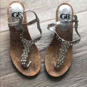 Gorgeous silver with Rhinestone Wedges.